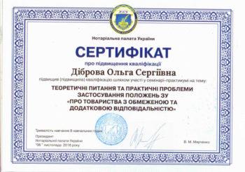 Сертифікати за участь у семінарі 06.11.2018